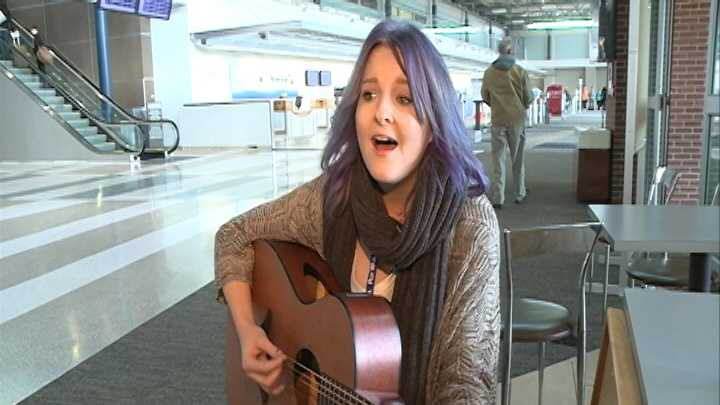 Imagine being a struggling musician who gets a big pay day completely out of the blue. That was Sierra Scott's story on Wednesday at the Northwest Arkansas Regional Airport, when she was playing music for travelers at the terminal.