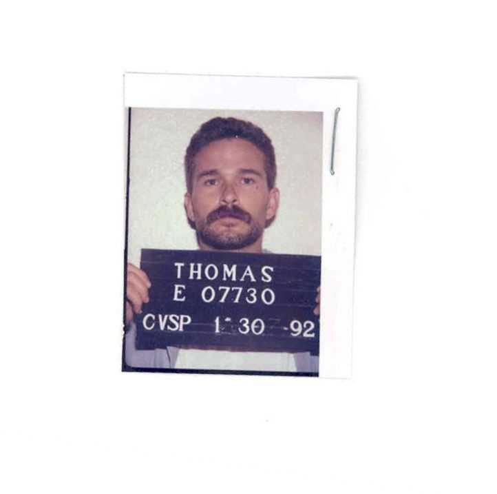 """Gene Thomas escaped on July 5, 1988. He was serving time for theft of property. He had a tattoo that said """"JENNA"""" on the top of his right shoulder and a heart on his left shoulder."""
