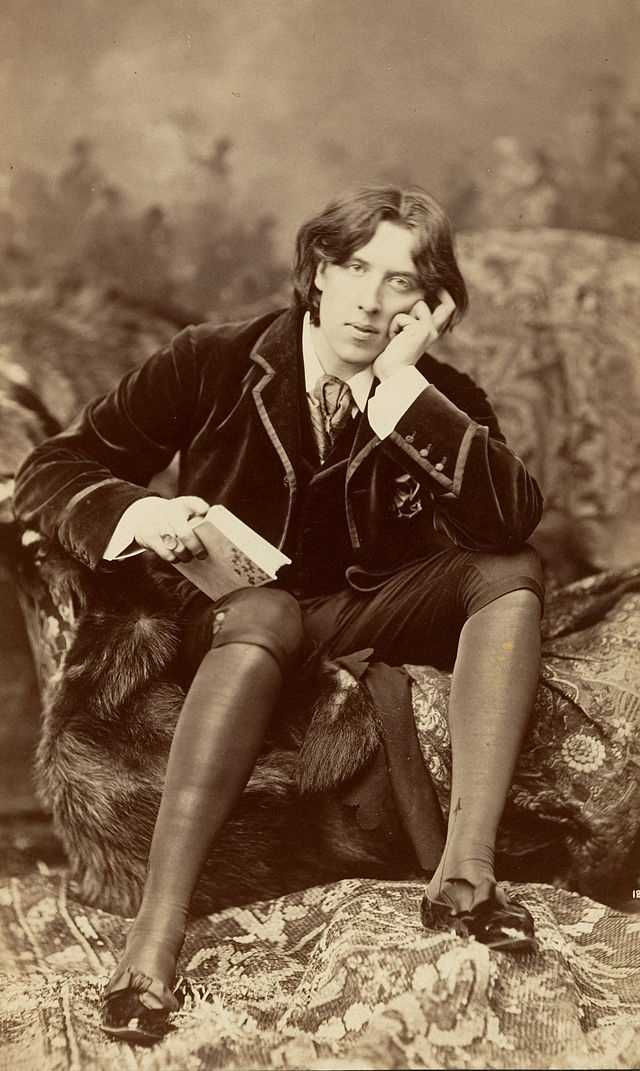 Writer Oscar Wilde was convicted of gross indecency in 1885 for homosexual behavior and sentenced to two years hard labor.