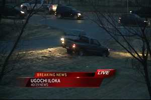 Two cars slid off Interstate 49 in Bentonville north of the NWACC exit (exit 86) before 7 a.m.