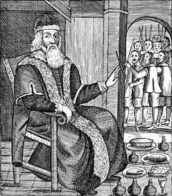 Father Christmas is the name used by a Santa-like figure in Great Britain. He's been giving gifts since the time of Henry VIII.