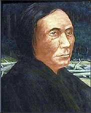 Puget Sound War (1855-1856) against the Nisqually, Muckleshoot, Puyallup, Klickitat, Haida, and Tlingit. Nisqually Chief Leschi is pictured.