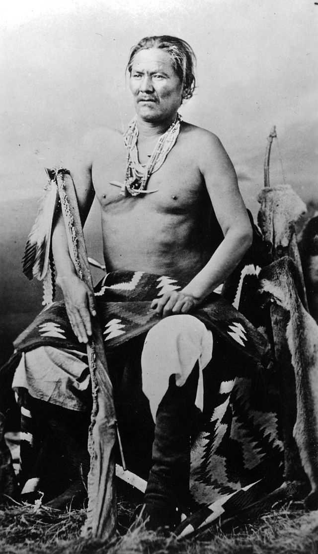 Navajo Wars (1858-1866) against the Navajo. Navajo Chief Manuelito is pictured.