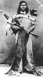 Paiute War (1860) against the Paiute, Shoshone and Bannock. Paiute High Chief Numaga is pictured.