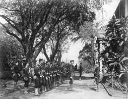 Overthrow of the Kingdom of Hawaii (1893) against the Kingdom of Hawaii.