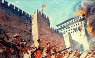 Boxer Rebellion (1899-1901) against the Righteous Harmony Society and Qing Dynasty China.