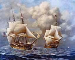 Quasi-War (1798-1800) against France and Spain.