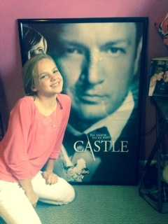 My oldest daughter Mia is keeping it in the ABC family. She absolutely loves the show Castle. Mia attends McNair Middle School in Fayetteville and she may have the TV bug! She already edits videos better than her Dad!