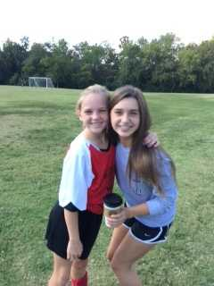 My oldest daughter Mia also loves to play Soccer. Her cousin Lexi Scott came out to a recent game. Lexi is on the dance team at Woodland Junior High!