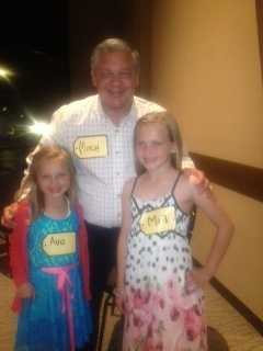 """My daughters and I getting ready for the """"Price is Right"""" show at Walton Arts Center. We didn't win a car :("""