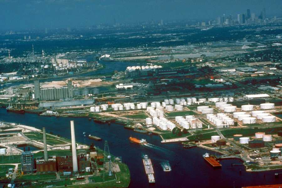 Take a cruise. Princess Cruises and Norwegian Cruise Line ships stop at the Houston Ship Channel.