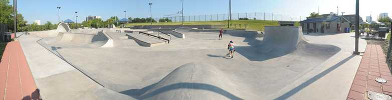 Skate. The Lee and Joe Jamail Skatepark is one of the largest in Texas. It's about 11 minutes north of NRG Stadium.