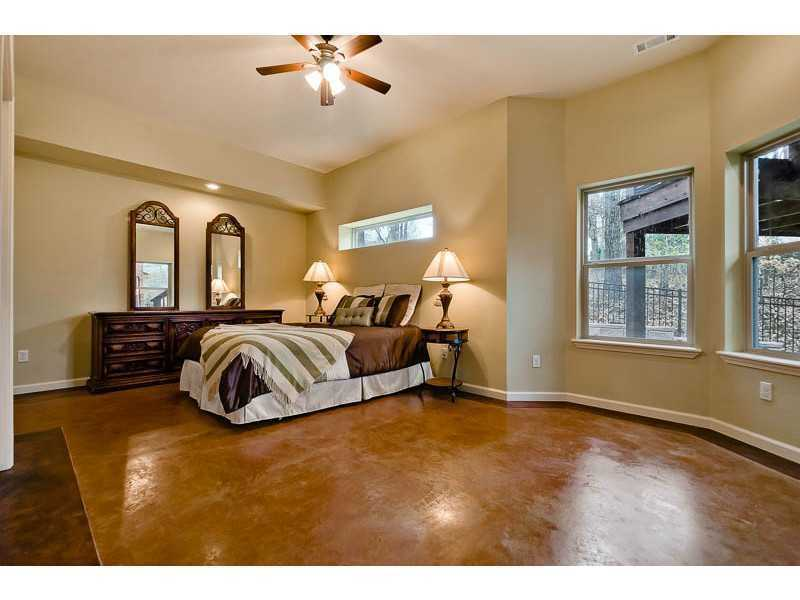 This is one of the five bedrooms in the home.