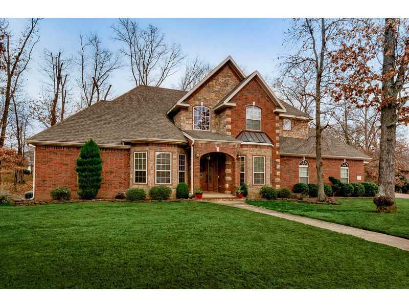 This Terry Maienschein custom home sits inside the Stonehenge subdivision in Bentonville.