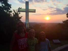 My favorite place in Fayetteville is on the top of Mt. Sequoyah.  What a place to catch a sunset!