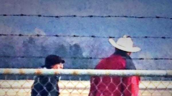 Razorbacks head football coach Bret Bielema spotted wearing a cowboy hat at Drake Field.