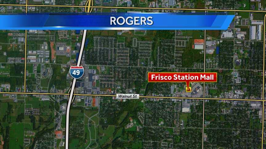 Location of the Thursday morning crash in Rogers.
