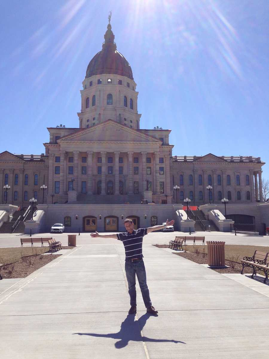 In my travels around the U.S, one of my big goals is to get to see all the state capitol buildings. This is me standing in front of the Kansas state capitol.