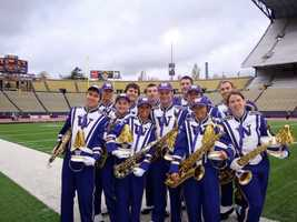 I've played the saxophone since I was in 5th grade and continued playing it all the way up through college when I played in the 250 member Husky Marching Band.