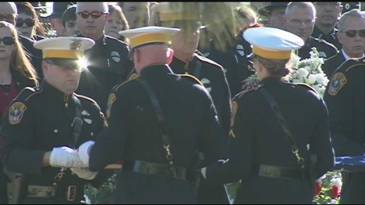 Police officers from across the state were at the funeral for Rogers Police Chief James Allen.