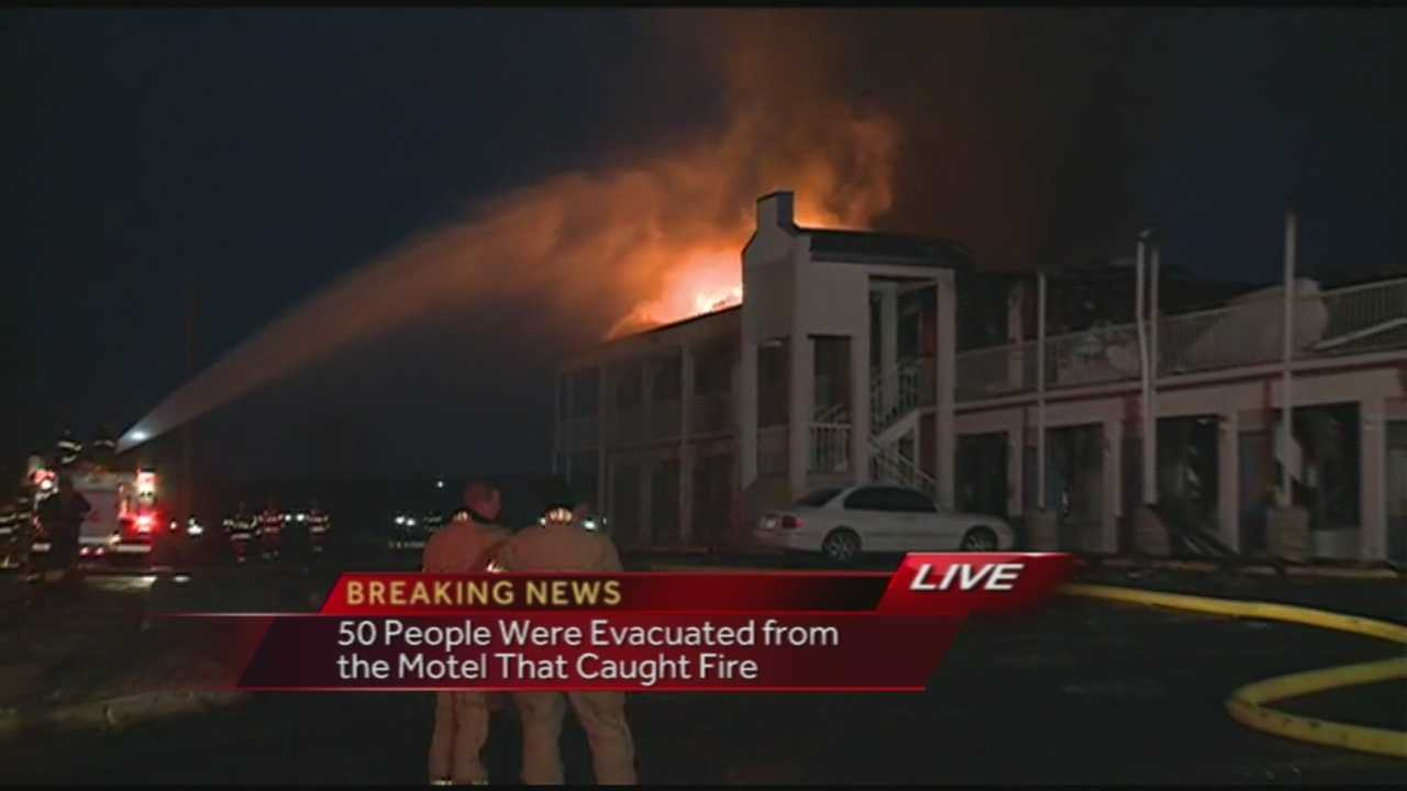 The Motel 6  in Van Buren caught fire Thursday morning. All visitors were evacuated.