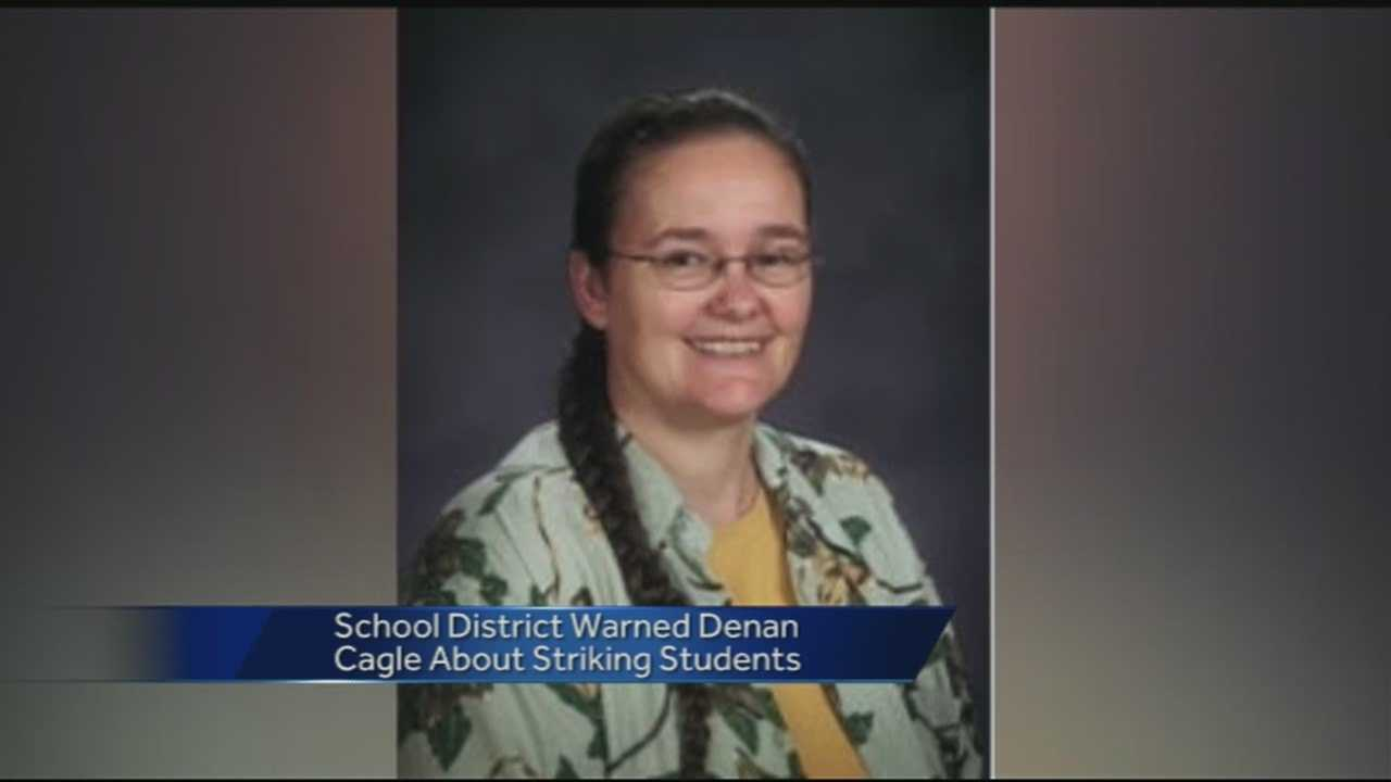 Police said they have issued a warrant for the arrest of a teacher accused of hitting a student in the classroom. We spoke to the parents of the student about the alleged incident.