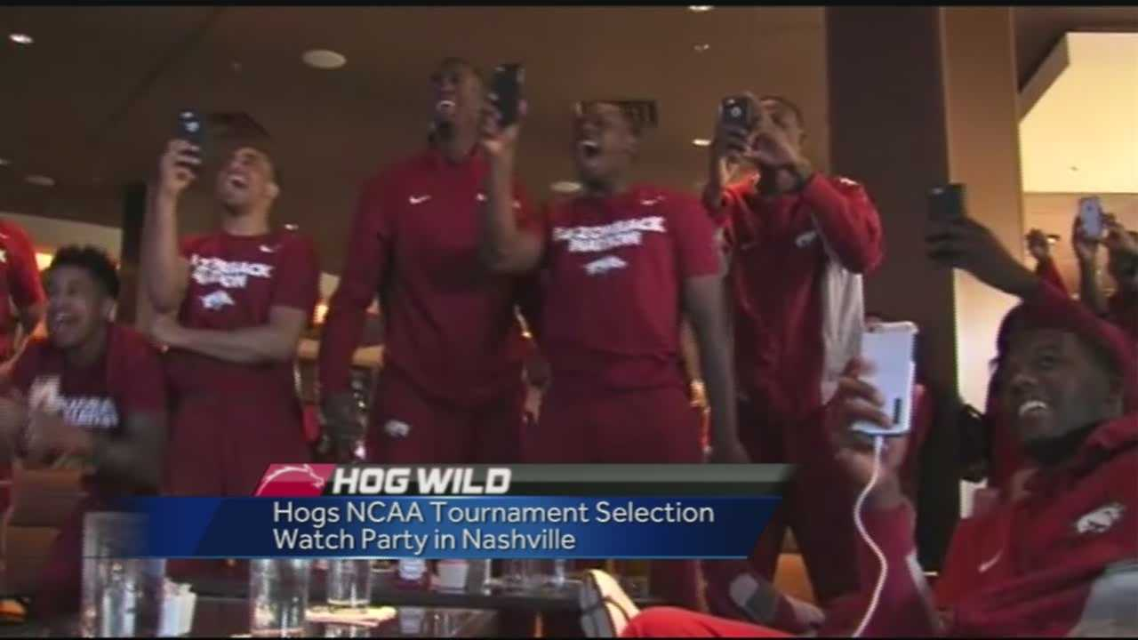 40/29's Mitch Roberts is live in Nashville where the Hogs just found out their seating for the NCAA tournament following their show in the SEC tourney.