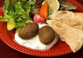 """For the adventurous souls out there, Coco's Lebanese Cafe is a food truck located in the Yacht Club food truck square. They serve Mediterranean al la carte at some really great prices! the Lamb and Baklava are two of the more popular menu items! Pictured here is """"Kibbeh."""""""