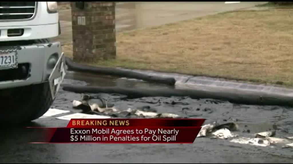 40/29's Joshua Cole reports breaking news that Exxon Mobil has agreed to pay nearly $5 million in penalties for the oil spill that happened in central Arkansas, although they will not admit liability.