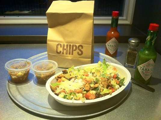 Who doesn't love a good burrito or burrito bowl from Chipotle? When walking around Dixon street in Fayetteville with Fido, be sure to stop by Chipotle's patio area to dig into some delicious Mexican food that is now, all GMO free!