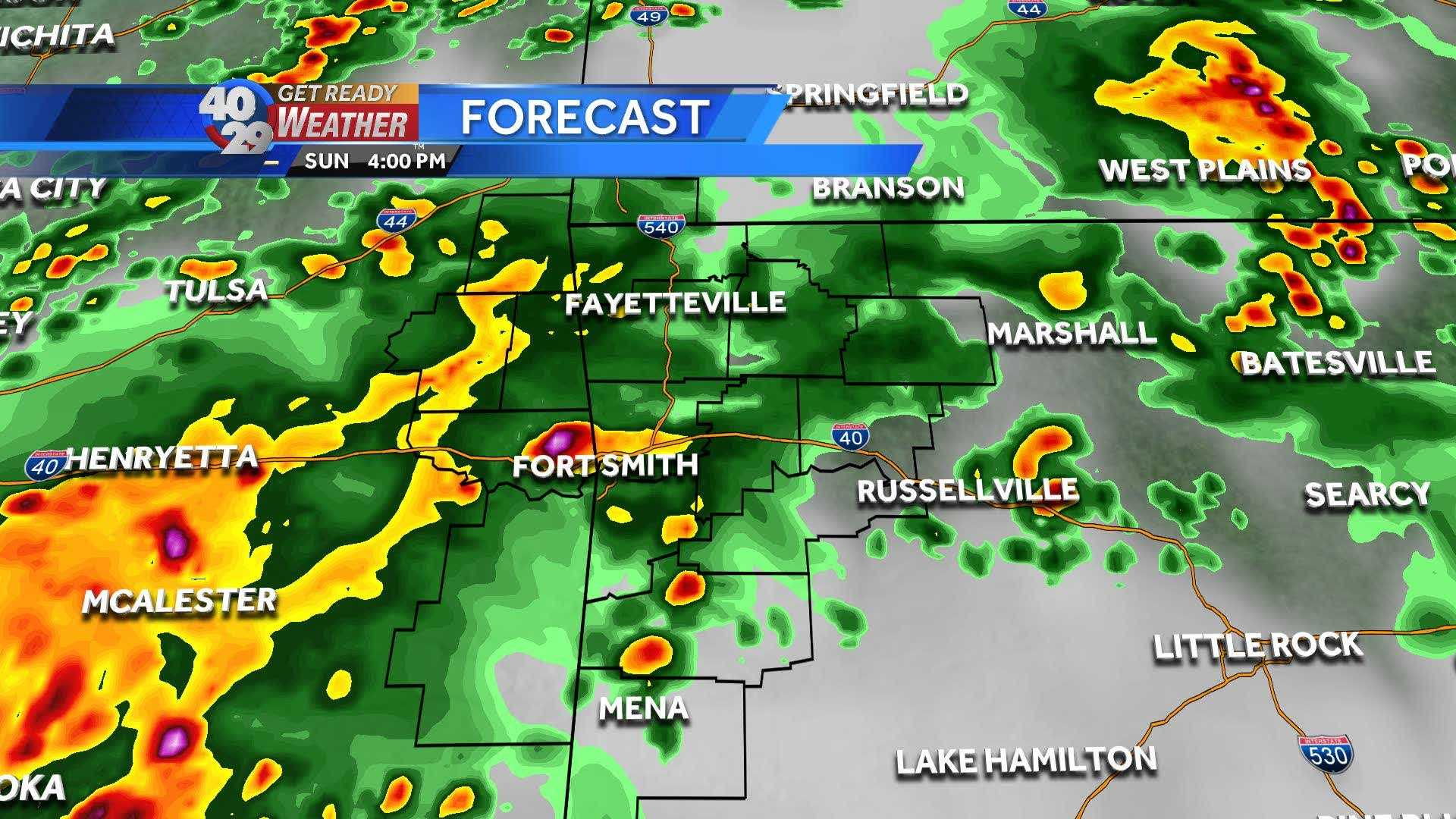 Here is the hour by hour video for Severe Weather Sunday
