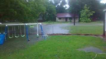 Flooding in Stigler