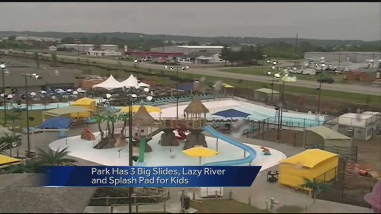 The new waterpark drew crowds despite the cool weather. It is a joint venture of the city of Fort Smith and Sebastian County.