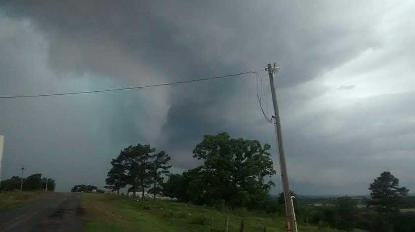 Storms in Heavener.