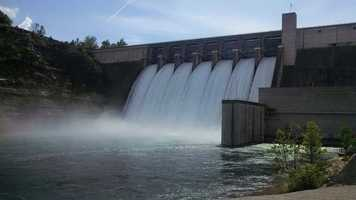 Beaver Dam flood gates open for the first time since 2011.