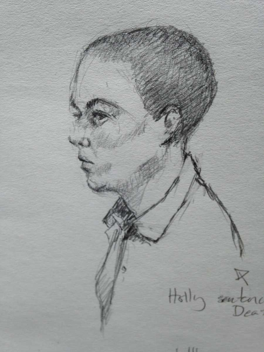 Zachary Holly during trial's sentencing. Jury sentenced Holly to death.