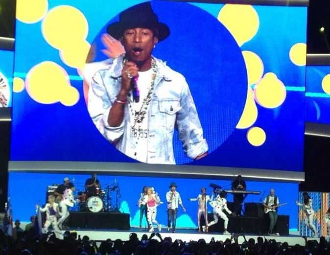 Pharrell performed in 2014.