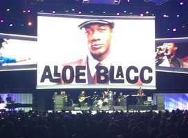 Aloe Blacc performed in 2014.