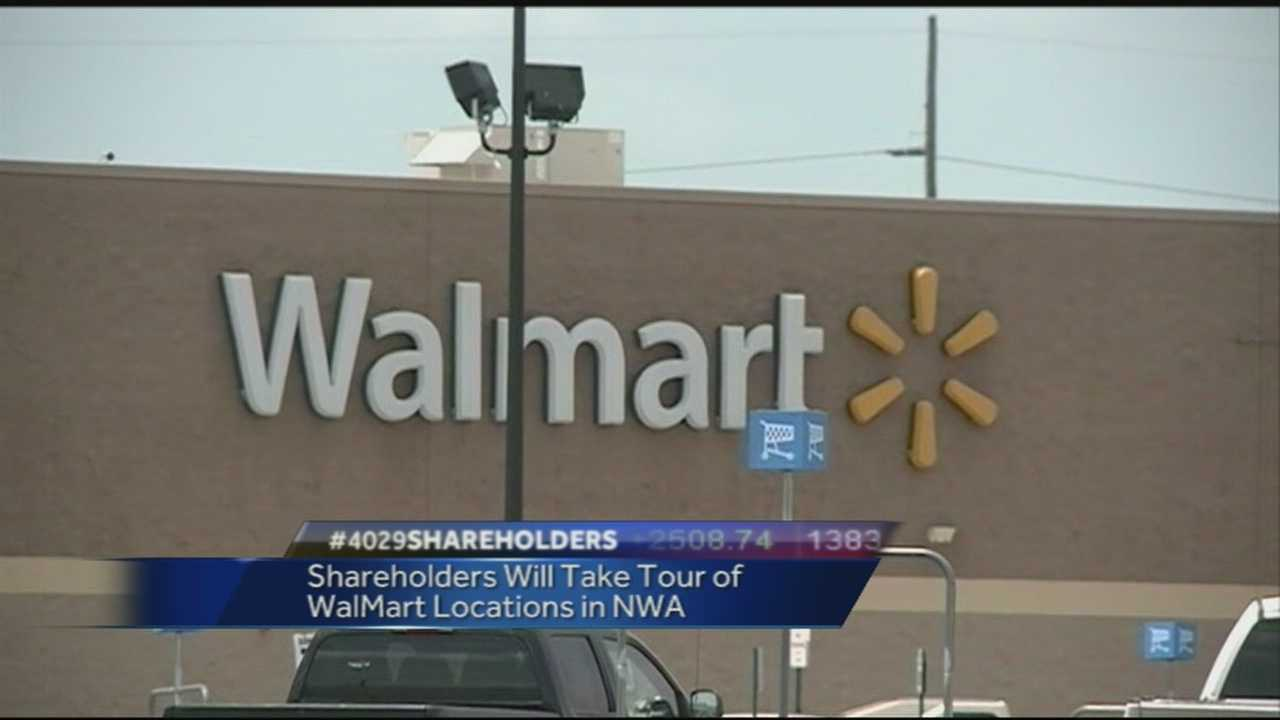 40/29's John Paul reports on what  a busy day Walmart Shareholders have in store for today with tours and many other events around the Northwest Arkansas area all leading up to the shareholders meeting at Bud Walton arena tomorrow.