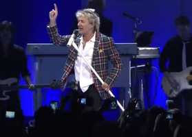 Legendary performer Rod Stewart performed in 2015