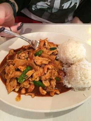 Taste of Thai in Fayetteville is popular among our viewers! Pictured here is their cashew chicken with rice.