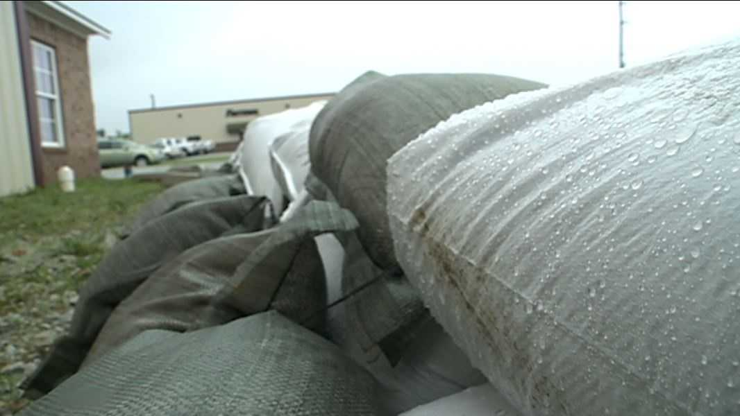 The Siloam Springs Fire Department is hoping sandbags will be enough to keep the water from flooding local businesses.