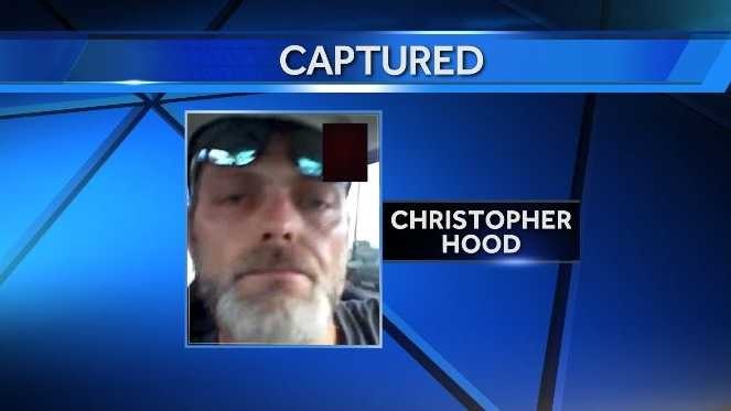 A manhunt for Christopher Hood ended in Missouri on Monday. Hood is accused of shooting at a Benton County deputy while being served a warrant on Friday.