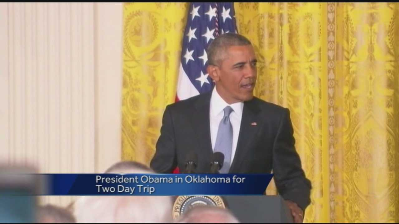 40/29's Pedro Rivera reports from Durant High School where President Obama will speak to the Choctaw Nation today about expanding economic opportunities in the area. Tomorrow, the President will visit the El Reno Correctional Institution to speak with law enforcement officials and inmates about criminal justice reform.