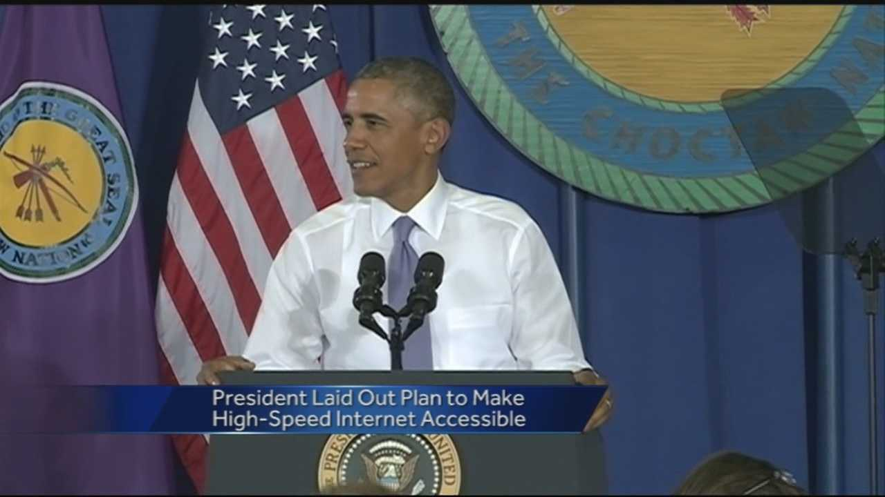 "President Obama visited Durant, Oklahoma Wednesday where he called for closing the ""digital divide."""