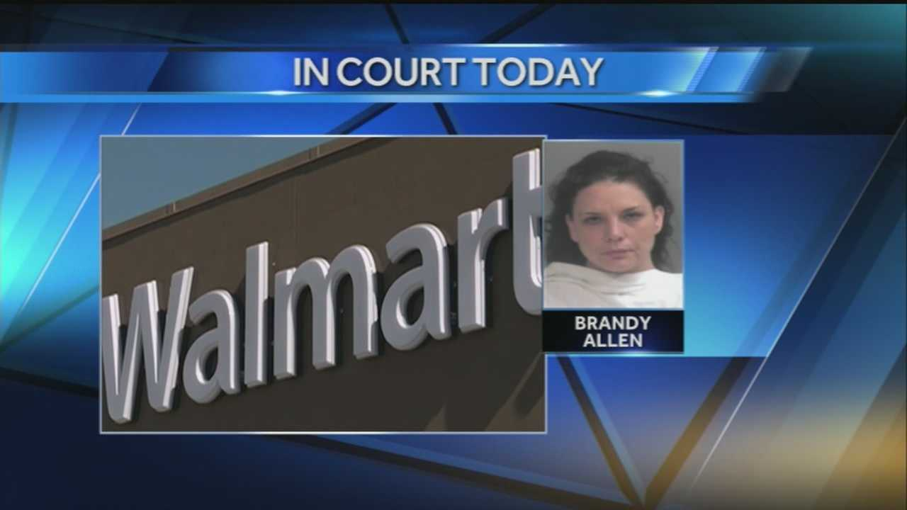 40/29's John Paul reports from Fayetteville where Brandy Allen is scheduled to be back in court this morning after failing to appear in court earlier this year for stealing hundreds of dollars worth of eyeshadow and other items from a Walmart.