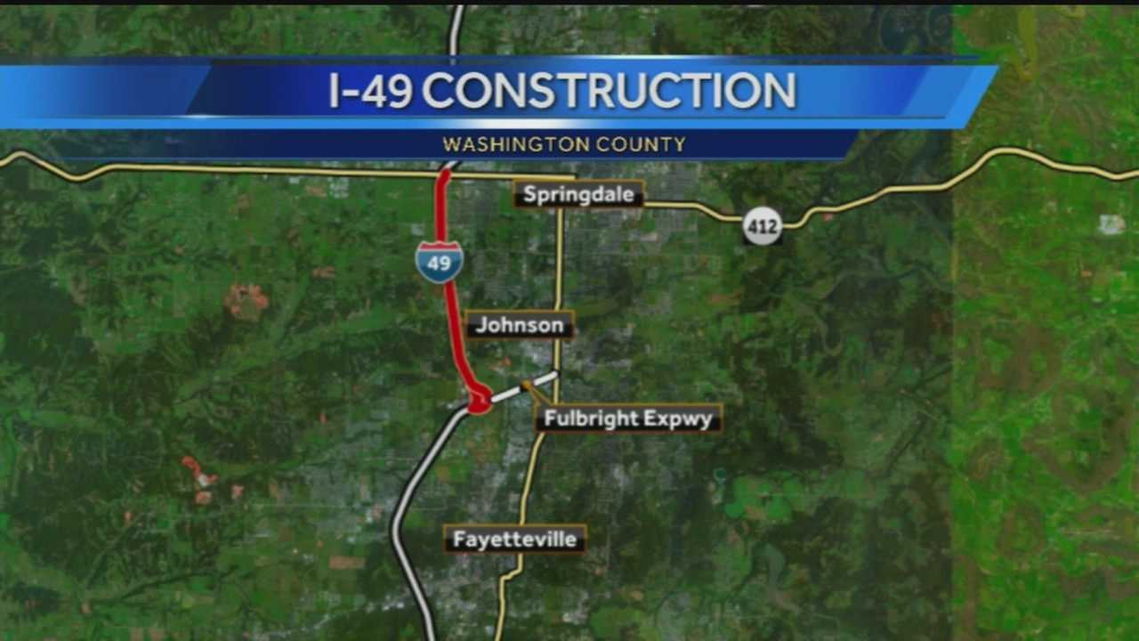 40/29's John Paul reports live from I-49 where an expansion project between Highway 412 in Springdale and the Fulbright Expressway could effect your commute. He tells us which lanes will be closed and when construction will begin.