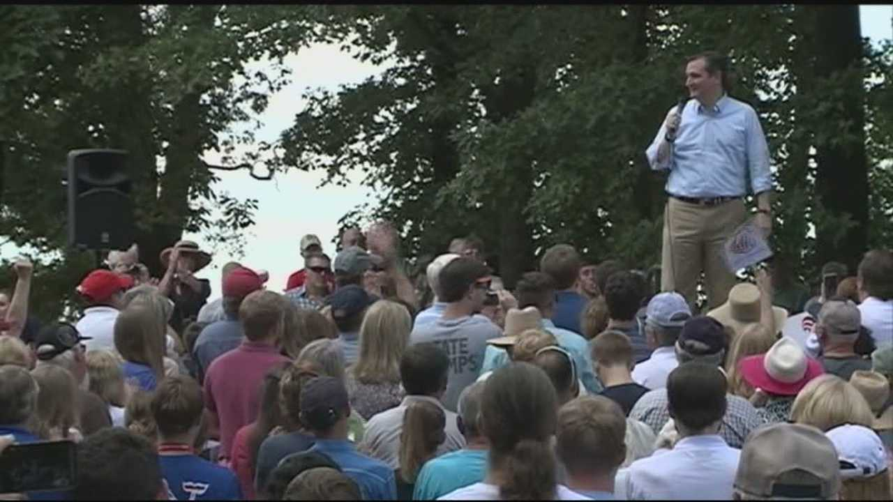 Some voters drove hours to see Texas Senator Ted Cruz Wednesday in Russellville.