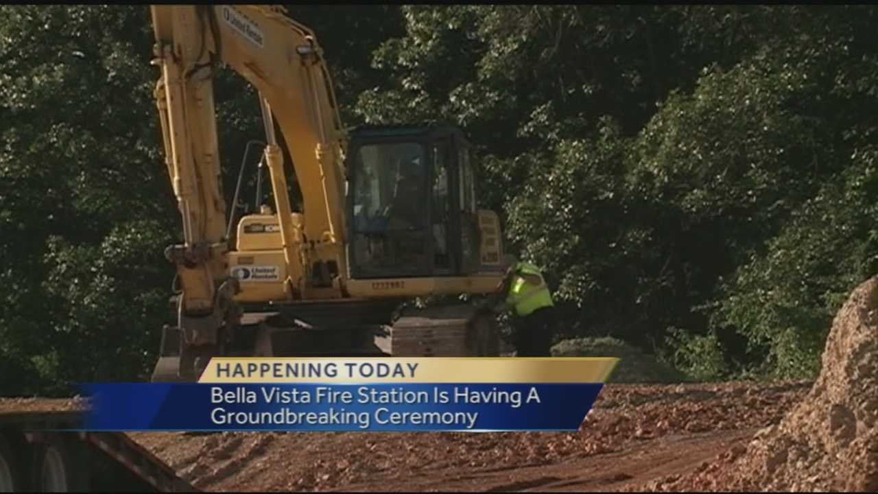 40/29's AJ McCord reports from the site where crews will be breaking ground on the new location for the Bella Vista Fire Department.
