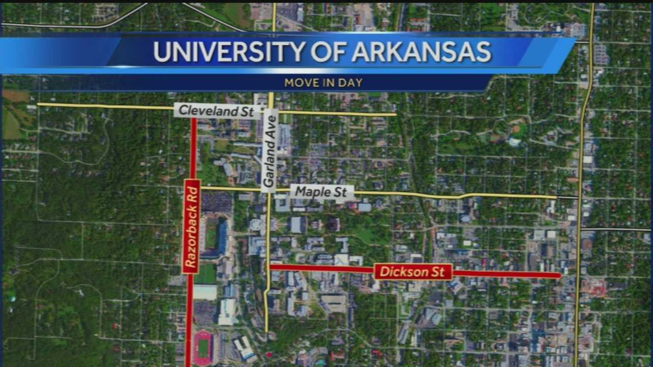 40/29's John Paul reports from the U of A where students will be moving in to campus for this coming school year today. He tells you the roads you want to avoid and how to get around.